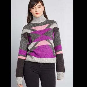 ModCloth Throwback Noisy May Turtleneck Sweater